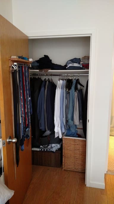 Closet will be entirely empty of clothes