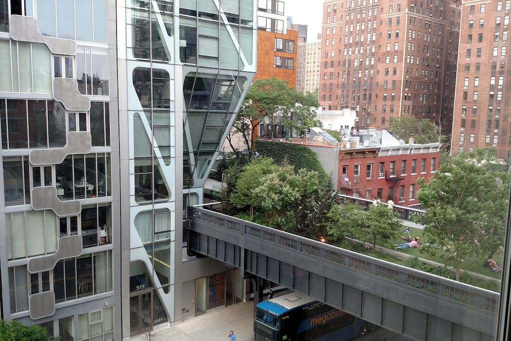 View of the highline from windows