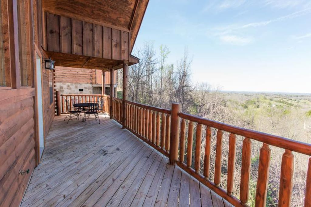 The spacious rear deck shows off amazing Smoky Mountain Views
