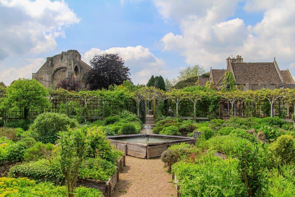 The herb garden in spring.