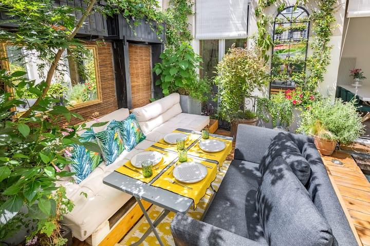 Loft avec terrasse dans le coeur de Paris