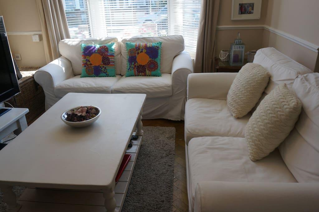 cozy living room.