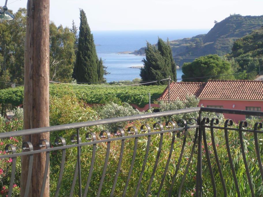 Sea view from Nerissa apartments balcony