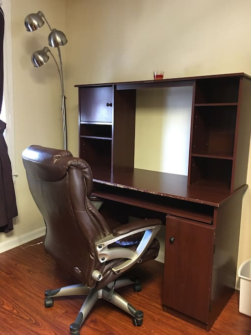 Professional work space with manager's chair and wi-fi