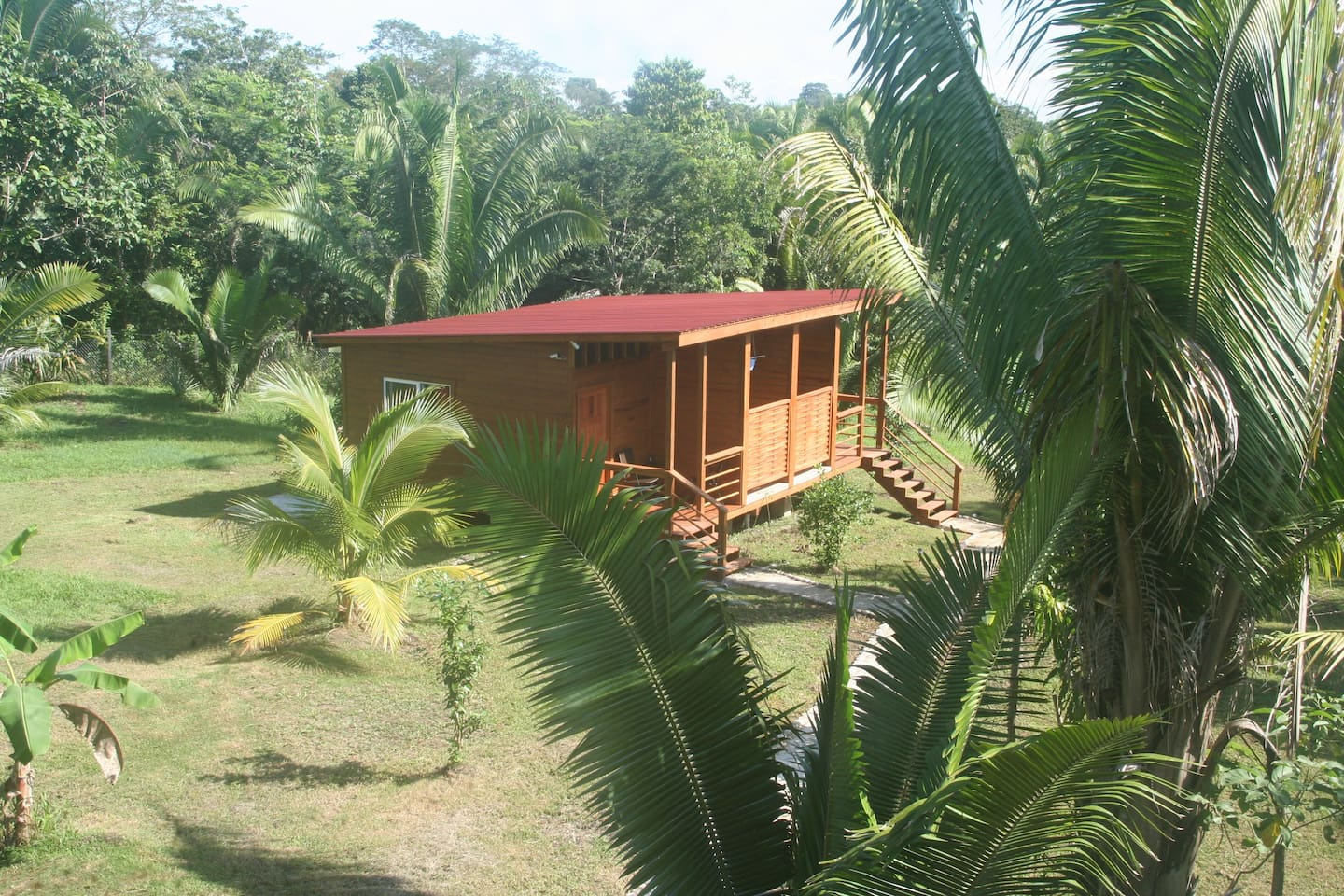 View from our Tree House to 2 room bungalow