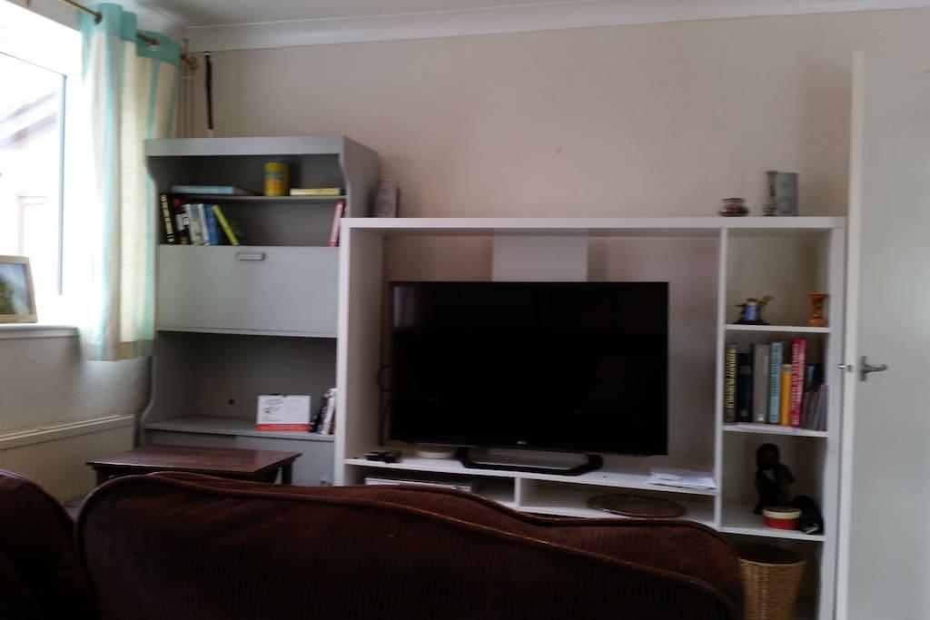 Large Smart TV, DVD , Free WiFi