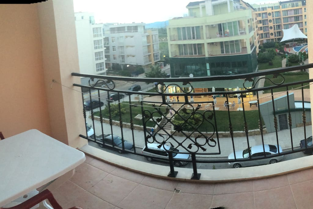Balcony is perfect for breakfast or dinner