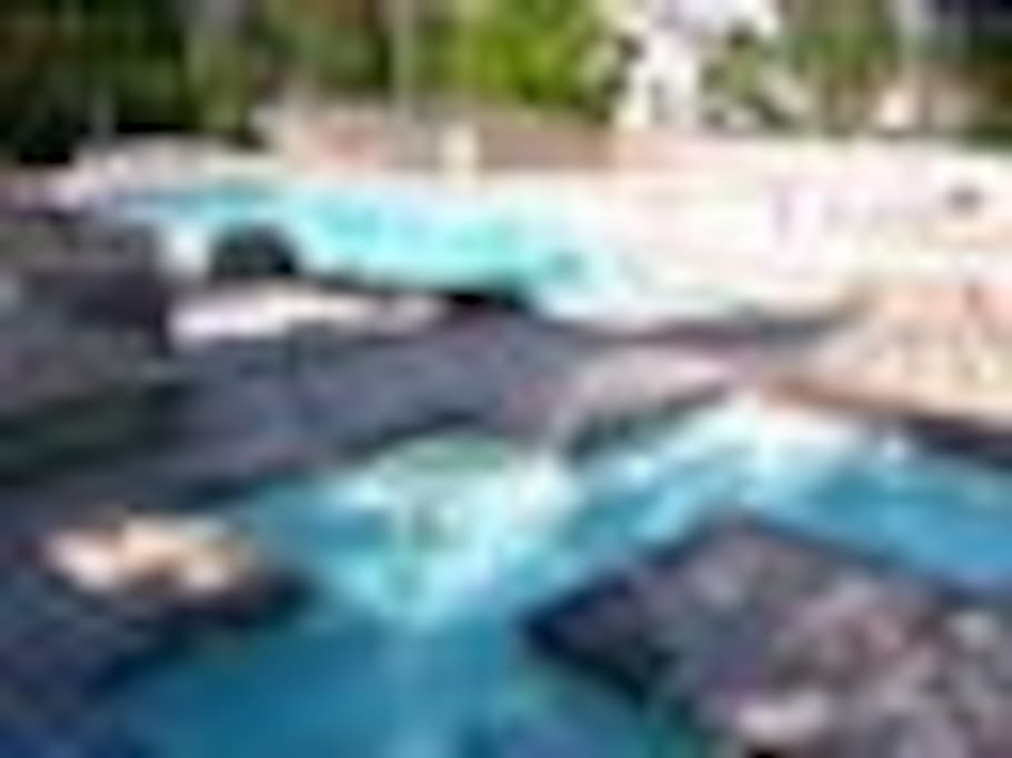 Indoor and outdoor pools, hot tub, tennis court, gym, sauna and spa.