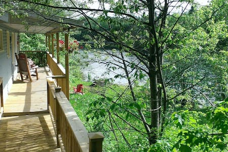 Riverfalls - Private, waterfront chalet with spa - Lac-des-Plages - Chalet