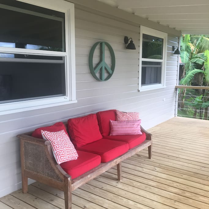 Peace and tranquility on the porch