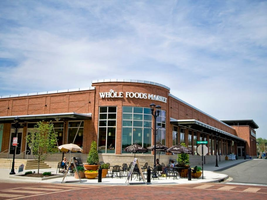 Whole Foods just steps away!