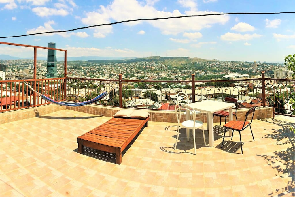 Open Terrace with beautiful view over the old city