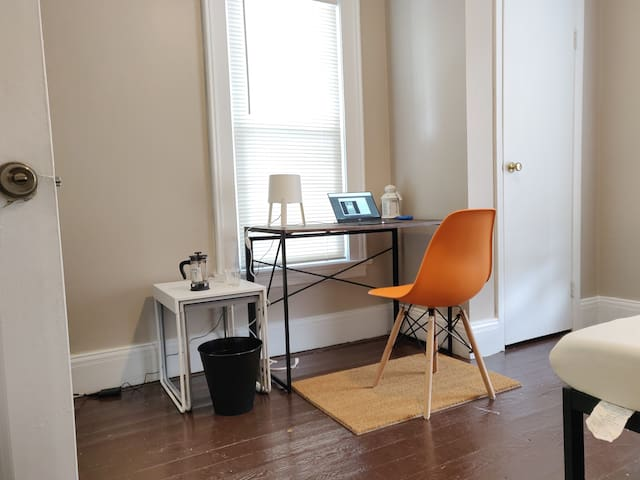 Desk and chair in all the rooms!