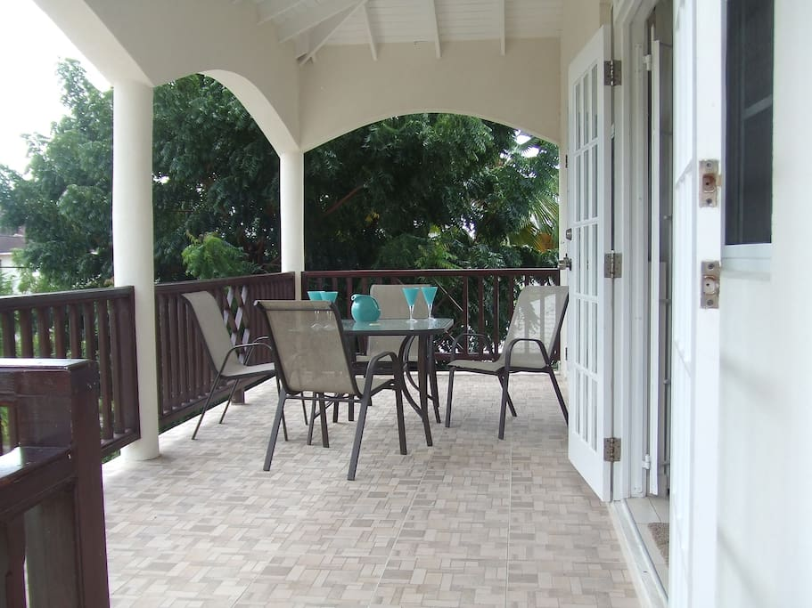 Private patio for outdoor dining/relaxing