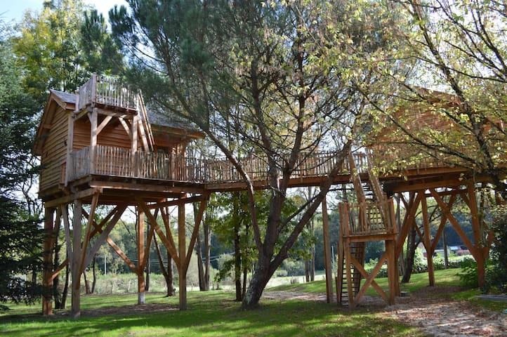Cabane dans les arbres Palombière - Le Nizan - Casa na árvore