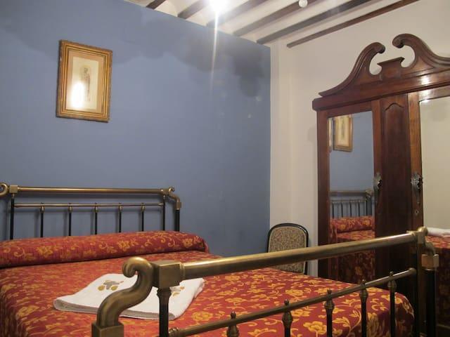Habitación doble en Casa Rural - Santa Cruz de la Zarza - Szoba reggelivel