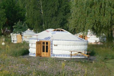 Yourte au camping la Garrigue - La Faurie