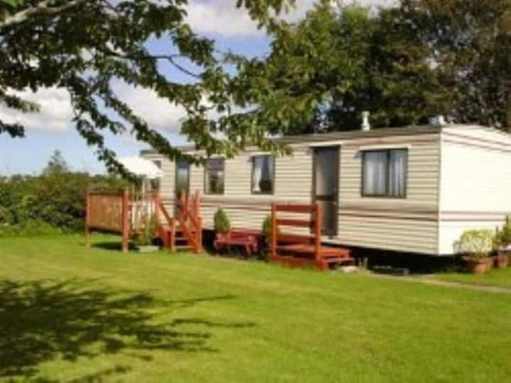 Fabulous secluded caravan with stunning views.
