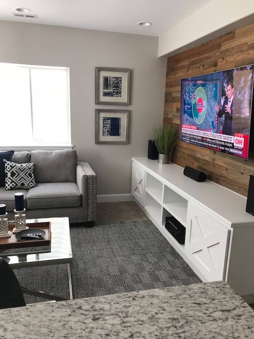 Executive living room and entertainment area
