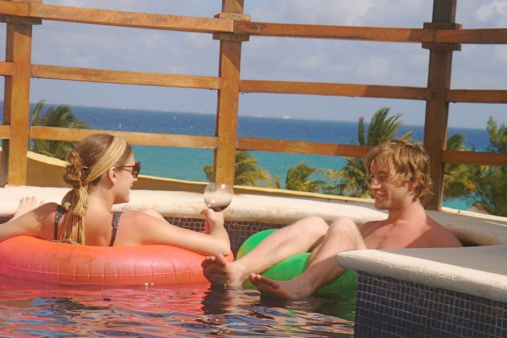 Another picture from our private dipping pool