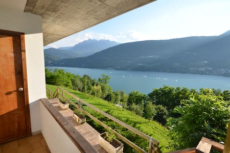 "Apartment ""Bucaneve"" panoramic lake view - Tenna - Leilighet"