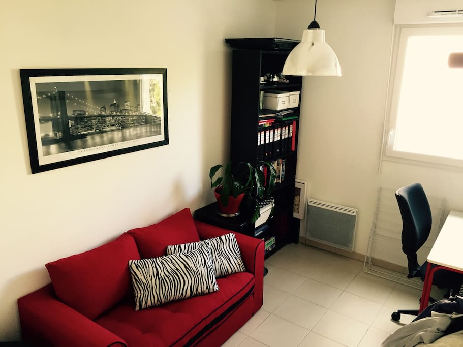 Chambre 2 + bureau (canapé convertible)