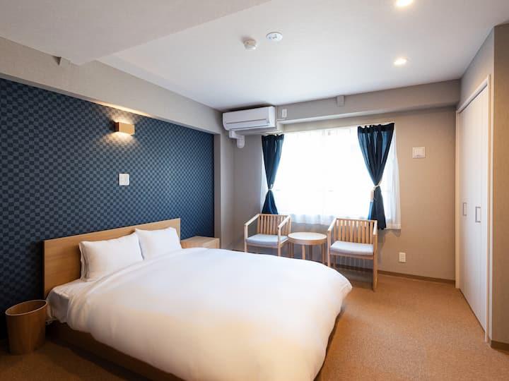 窓から五重塔!!2020年オープンで部屋が綺麗!!奈良観光に最高のロケーション!!ダブルルーム