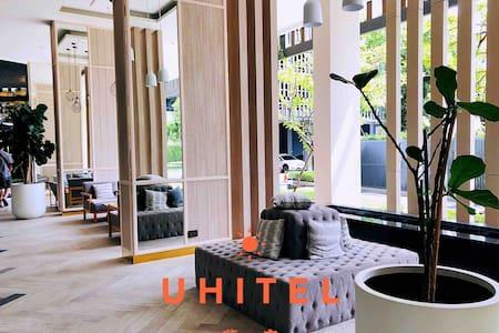 网红象神博物馆,零距离BTS高层公寓,两居简约现代风全新公寓可住四人