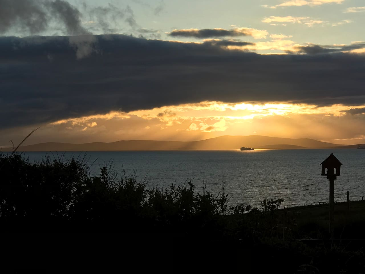 View from the house (Scapa Flow)