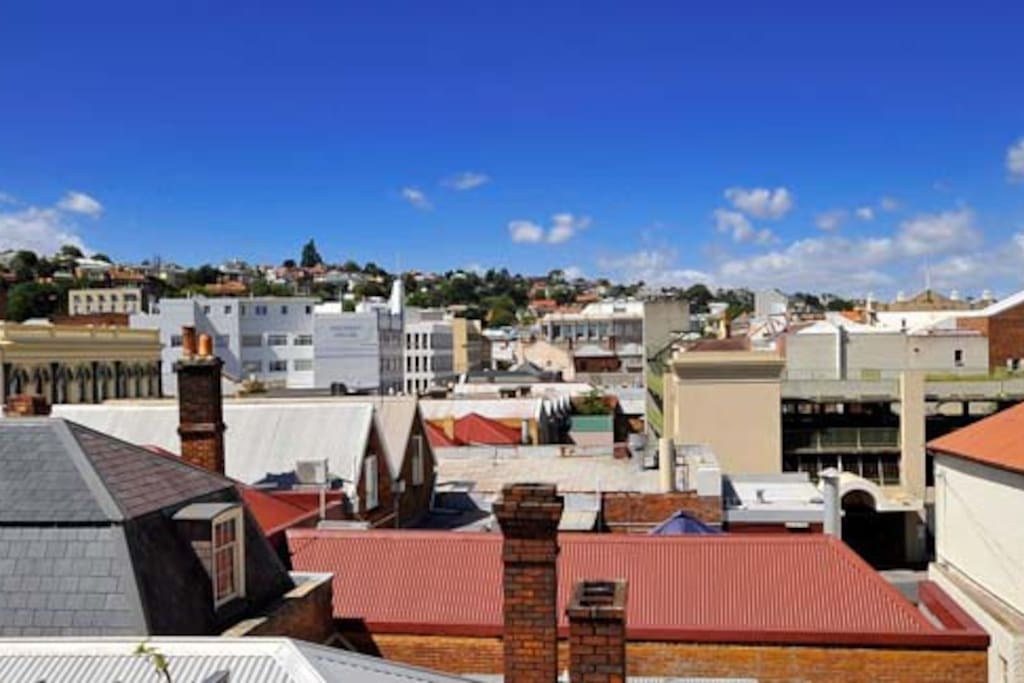 unique rooftop views of launceston's CBD
