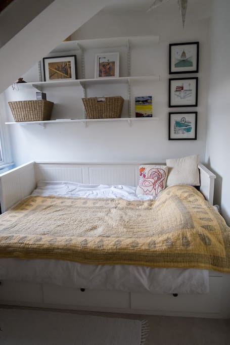 Smaller bedroom with a double bed