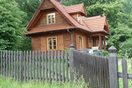 """Drewniany dom górski """"Pod lipami"""" - Męcina/gmina Limanowa - House"""