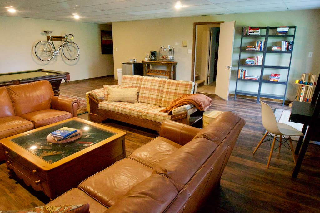 Cozy area to relax or work along with coffee and other extras for your enjoyment included with your stay.