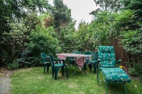 Pokój z ogrodem