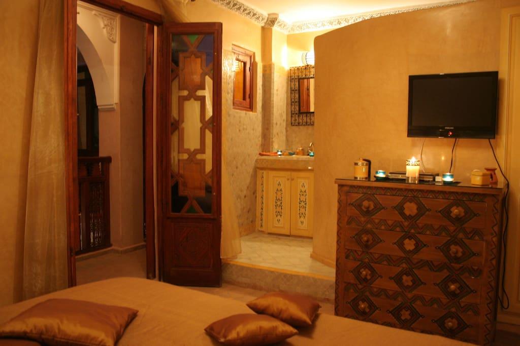 Chambre Safran Riad Turquoise