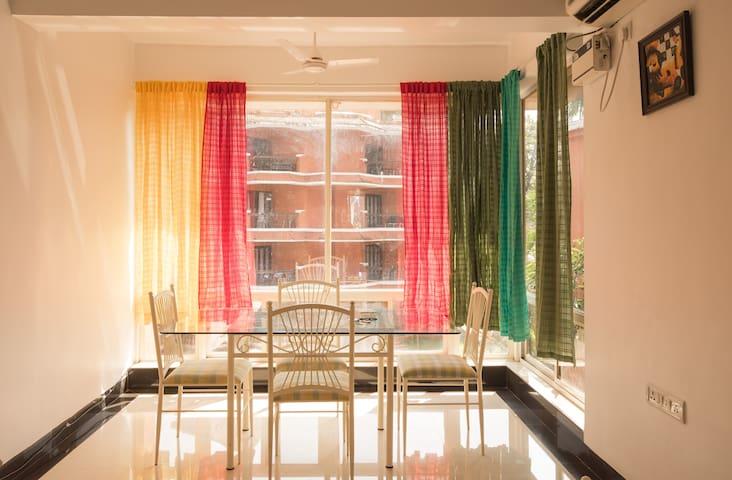 Goa retreat,2 BR  beach apartment - baga