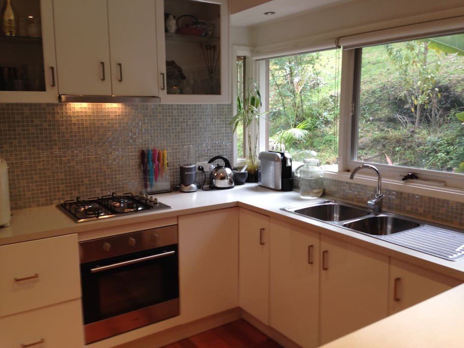 Clean, modern kitchen with  dishwasher.