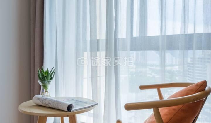 南湖公园 日式设计LOFT 酒店式公寓——湖景亲子房(两室一厅1.8米+1.2米床)HU