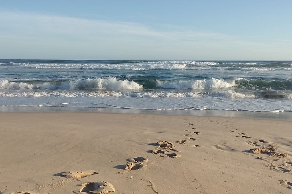 The beach is within close walking distance