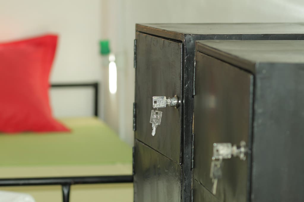 secured lockers with electrical outlets inside for added safety for your gadgets