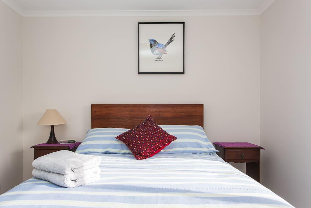 Welcome to Reservoir: original artwork and Guatemalan bedspread