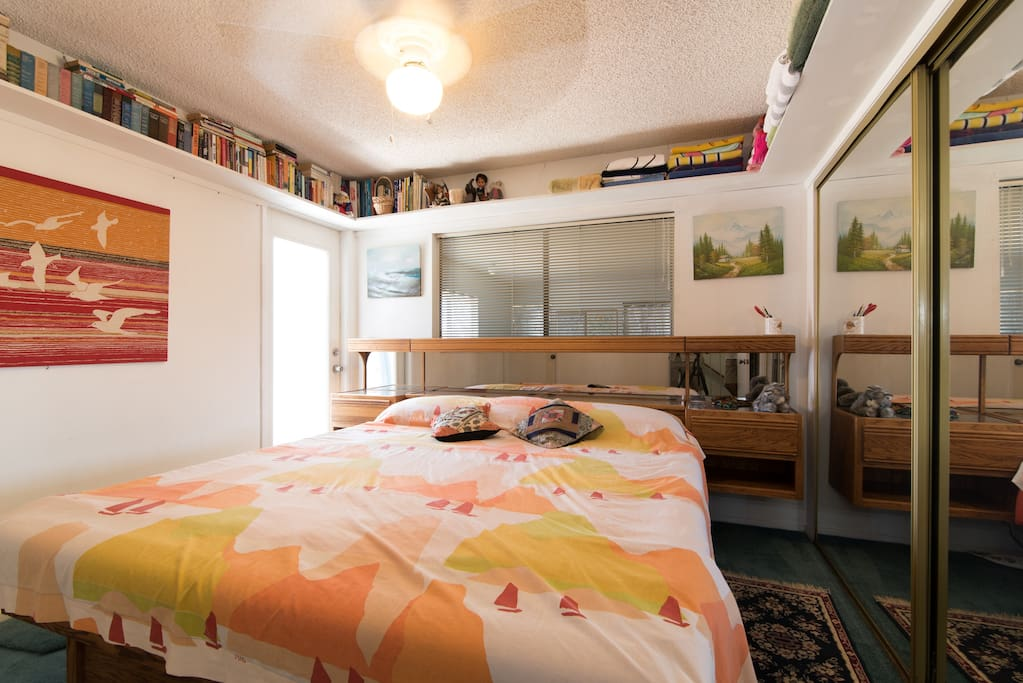 Bdrm #1 with King sz Waterbed + Balcony access.