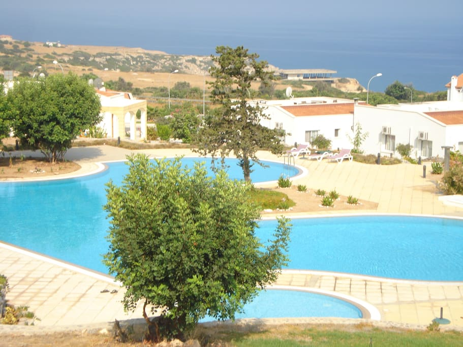 Three well-maintained, large pools plus three children's pools