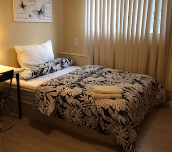 clean and bright bedroom #101 for 2 guests