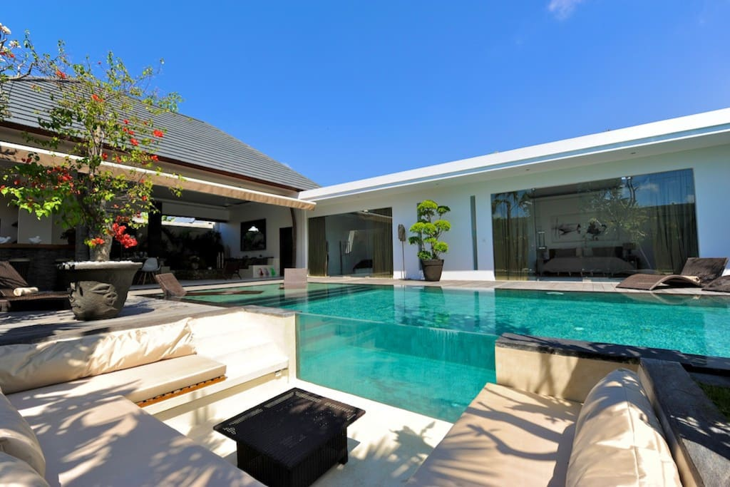 Lounge area by the pool