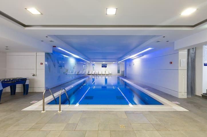internal heated pool