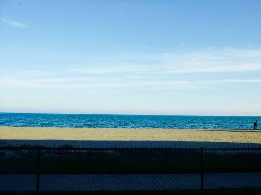 Beach outside your condo!  Gated entrance.