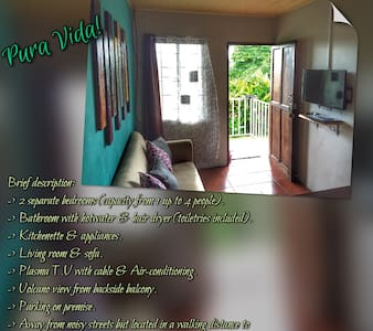 #1 Apt. Balcony Volcano View & A/C - La Fortuna - Apartment