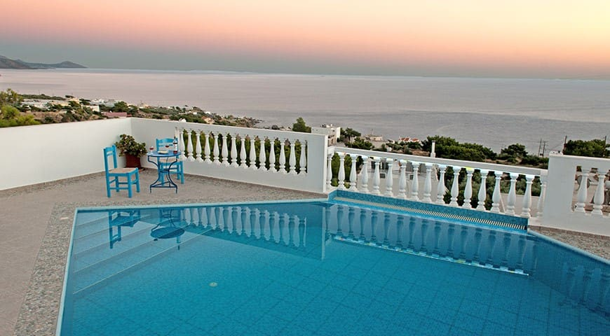 Nice villa , superb view to the sea - Achlia