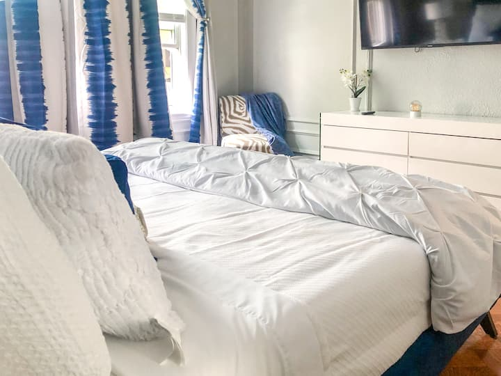 King Bed in your own Boston oasis.